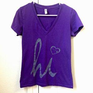 V Neck Purple